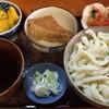ししまる食堂 - 料理写真:武蔵野うどん + かぼちゃのサラダ + ししまるおあげ + にんじんしりしり