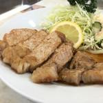 源氏食堂 - ブタ肉塩焼きライス1,100円