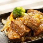 ステーキハウス寿楽 - 那須和牛おすすめサイコロステーキ