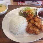 丸鶏素揚 ひなまる - 薄味でニンニク風味 2016.11