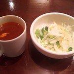 カサデフジモリ - カップスープ&サラダ(2016.10)