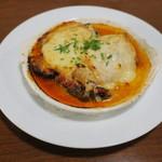 カフェ ブル - 穴子、茄子、生ハム、スカモルツァ・チーズの重ね焼き1