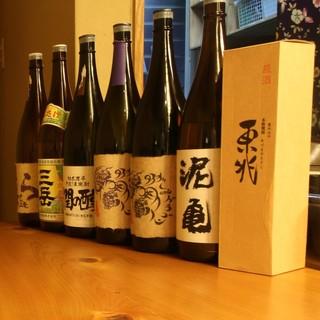 次々かわる日本酒・焼酎