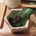 蕎麦切 宮下 - そば味噌胡瓜
