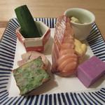蕎麦切 宮下 - 「彩り前菜」