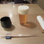 蕎麦切 宮下 - 「生ビール」