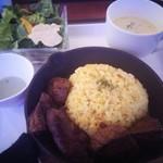 美女と野獣のカフェ・レストラン ビューティー&ザ ビースト - ビーストランチ♪(ステーキのセット) 1800円