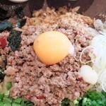 まぜそば 凜々亭 - 台湾ミンチ&卵黄