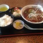 大阪屋 - ラーメン定食 ¥750