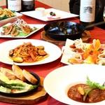 ジュリアーノ - ラクレットと牛ほほ肉の赤ワインソース煮込み付シェアコース