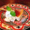 ハルワ食堂 - 料理写真:バナナチーズケーキ  このお皿がまた素敵^_^
