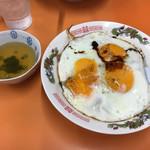 白龍 - 料理写真:焼豚玉子飯(中)600円