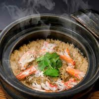 ズワイ蟹の土鍋御飯