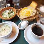 メフィストフェレス - スープモーニング(¥790)。まるでコース料理のような充実ぶり!