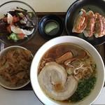 もりずみキッチン - らぁ麺ランチセット(醤油らぁ麺)1,200円