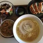 もりずみキッチン - らぁ麺ランチセット(熟塩らぁ麺)1,200円