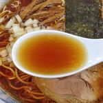 でうら - らあめん(大盛り)650円(スープ)