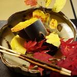 美山荘 - 子持ち鮎の杉板焼き