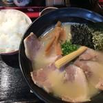麺処 次男房 - 次男坊¥750+チャーシュー¥300&ライス¥150
