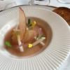 クレッセント - 料理写真:冷製フォアグラのフランとあかね林檎