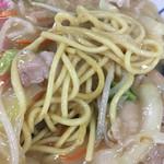 えぞっ子ラーメン - 皿うどん太麺麺は焼いてないタイプです。