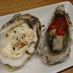 かき焼き はじめ - [料理] 焼き牡蠣2種 全景♪w ①