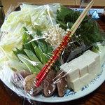 ぼたん鍋 あさみや - お野菜たっぷり