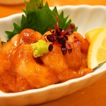 縄寿司 - 甘えびわさび醤油和え