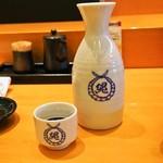 縄寿司 - 燗酒(貴仙寿)