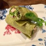 欅亭 - H28.11.19 おまかせ 前菜盛り合わせ 3品「ローストチキンのタコス包み」