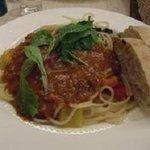UCCカフェプラザ - たっぷりチーズのボロネーゼスパゲッティ