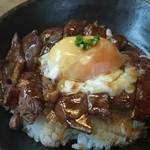 レストランHAMA - とろーりたまごステーキ丼160g ¥1,380