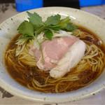 麺工 小烏丸 - 黒そば。麺大盛り。