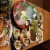 炉端 小次郎 - 料理写真:超速鮮度!地魚の姿盛り&牛カルビ炭火焼コース(3500円税込)