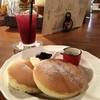 離山房 - 料理写真:ホットケーキとブルーベリージュース