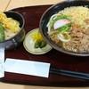 博多うどん はち屋 - 料理写真:小天丼セット(うどん)肉トッピング