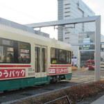 立山そば - 富山駅前点描1 富山は市電が元気に走っています