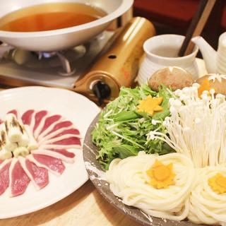 冬のおすすめ「鴨ハリハリうどんすき鍋」