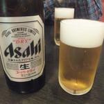 赤門 - 瓶ビール中550円(2016.10.22)