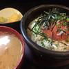 すし亭 - 料理写真:石焼ネギトロ丼&味噌汁