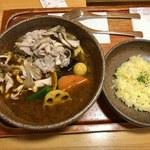 ピカンティ - 「道産豚とプレミア舞茸のしゃぶしゃぶ」1,050円