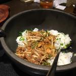煌力 - 汁無し担々麺の締めのご飯