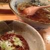 蕎麦切り大城 - 料理写真:ランチDセット[ピリ辛肉みそ丼+かけそば](1,000円)を頂きました。