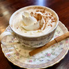 すぷれも珈琲  - ドリンク写真:カフェカプチーノ ♪  シナモンスティックが添えてあります