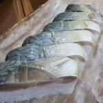 栃生梅竹 - 鯖寿司(極上)を生鯖仕上げで