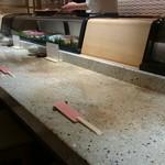 おつな寿司 - カウンターの図