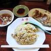 寿福 - 料理写真:チャーハンと焼き餃子