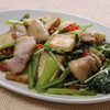 豚肉と青菜のオイスター炒め