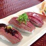 神戸みなと温泉 蓮 - 神戸牛 炙り寿司