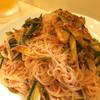 ふる里 - 料理写真:素麺とキムチの和え物